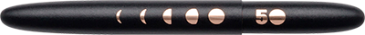 Fisher Special Edition Matte Black Bullet Space Pen w/ Lunar Cycles Engraving - 400B-50 - Gear Supply Company