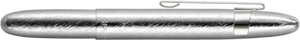 Fisher Brushed Chrome Bullet Space Pen w/ Clip - 400BRCL with Clip - Gear Supply Company