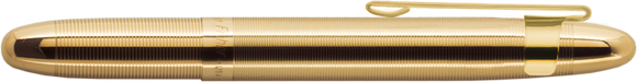 Lacquered Brass Bullet Space Pen w/ Gold Clip - 400GGCL - Gear Supply Company
