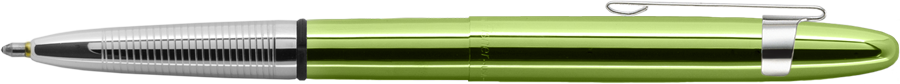 Lime Green Translucent Bullet Space Pen w/ Chrome Clip - 400LGCL - Gear Supply Company