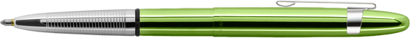 Fisher Lime Green Translucent Bullet Space Pen w/ Chrome Clip - 400LGCL - Gear Supply Company