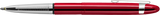 Red Cherry Translucent Bullet Space Pen w/ Chrome Clip - 400RCCL - Gear Supply Company