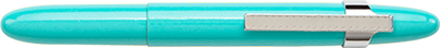 Tahitian Blue Bullet Space Pen w/ Chrome Pocket Clip - 400TBLCL - Gear Supply Company