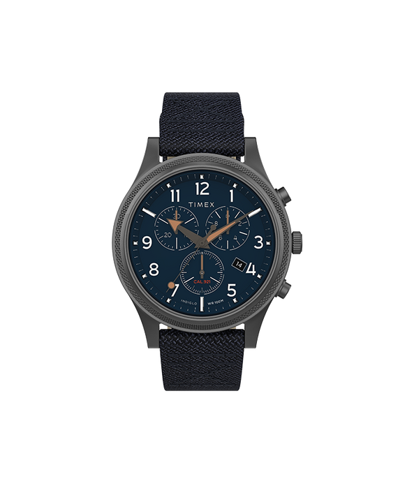 Allied LT Chrono 40mm Grey Case Blue Dial Blue Fabric Strap TW2T75900VQ - Gear Supply Company