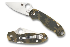 "Spyderco Para 3 Compression Lock Knife Digi Camo G-10 (3"" Satin) C223GPCMO - Gear Supply Company"