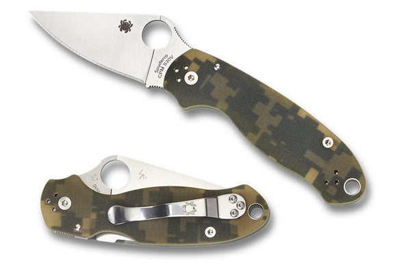 Spyderco Para 3 Compression Lock Knife Digi Camo G-10 (3