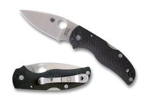 "Spyderco Native 5 Knife Fluted Carbon Fiber (3"" Satin CPM-S90V) C41CFFP5 - Gear Supply Company"
