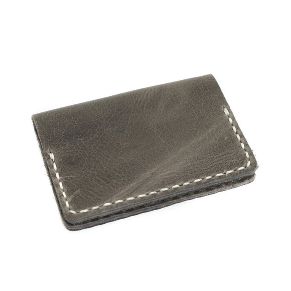 Voyager Leather Wallet: Charcoal - Gear Supply Company