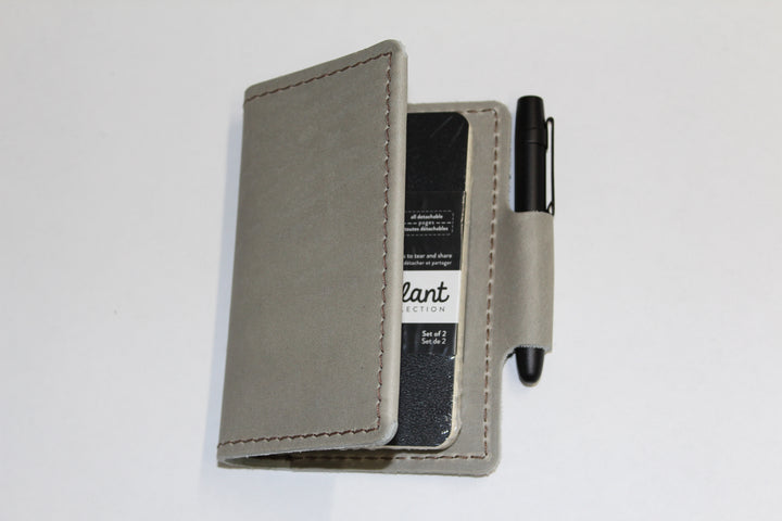 Orbiter Leather Wallet/Pocket Notebook Combo - With Space Pen: Stone - Gear Supply Company