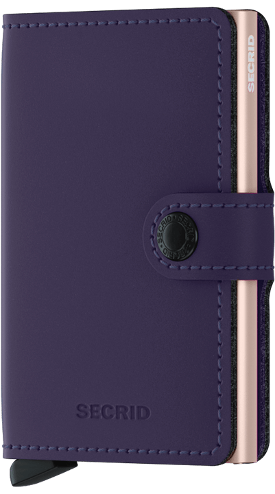 Secrid Miniwallet - Matte Purple Rose - Gear Supply Company