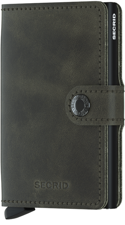 Secrid Miniwallet - Vintage Olive - Black - Gear Supply Company
