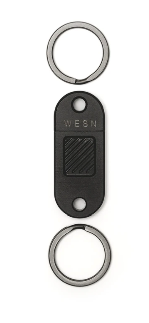 WESN Titanium Quick Release Keychain - BLACK - Gear Supply Company