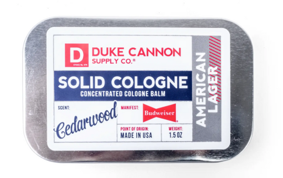 Duke Cannon Solid Cologne - American Lager Solid Cologn - Gear Supply Company