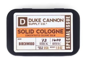 Duke Cannon Solid Cologne - Birchwood - Gear Supply Company