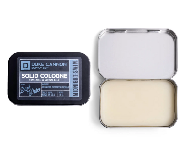 Duke Cannon Solid Cologne - Midnight Swim - Gear Supply Company