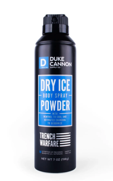 Duke Cannon Dry Ice Body Spray Powder - Gear Supply Company