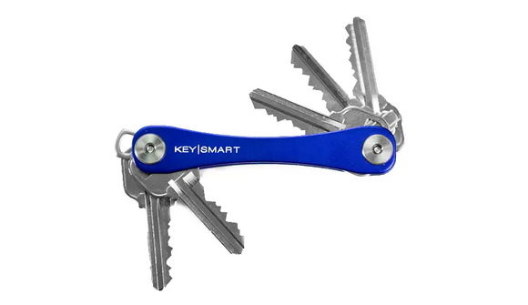 KeySmart Original Key Holder | Aluminum | Holds 8 Keys - Blue