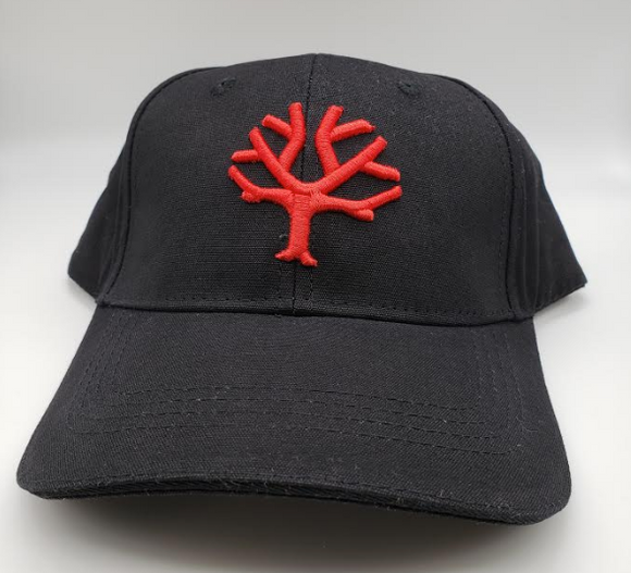 Boker Velcro Cap, Black with Red Tree Brand Logo - 09BO102 - Gear Supply Company