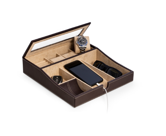 BeyBerk Brown Leather Valet Box - Gear Supply Company