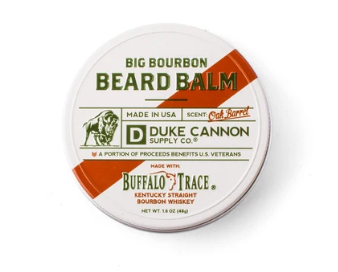 Duke Cannon Big Bourbon Beard Balm - Oak Barrel - Buffalo Trace - Gear Supply Company