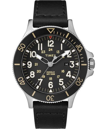 Allied Coastline 43mm Leather Strap Watch - Gear Supply Company