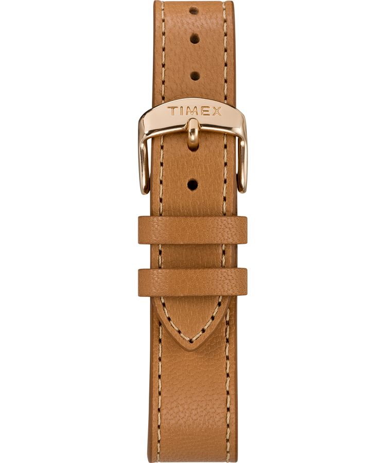 Fairfield Crystal With Swarovski® Crystals 37mm Leather Strap Watch: Rose-Gold-Tone/Tan/Cream - Gear Supply Company