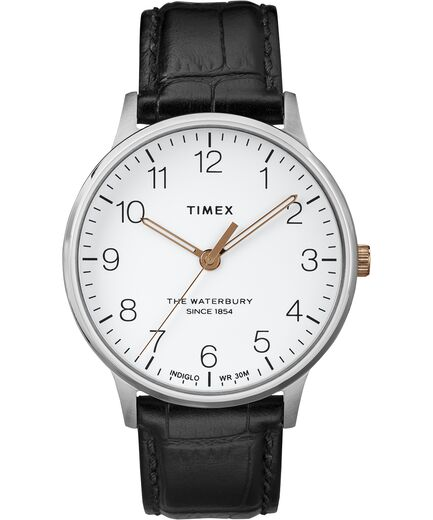 Waterbury Classic 40mm Leather Strap Watch - Gear Supply Company