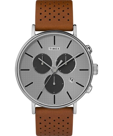 Fairfield Chronograph Supernova™ 41mm Leather Strap Watch - Gear Supply Company