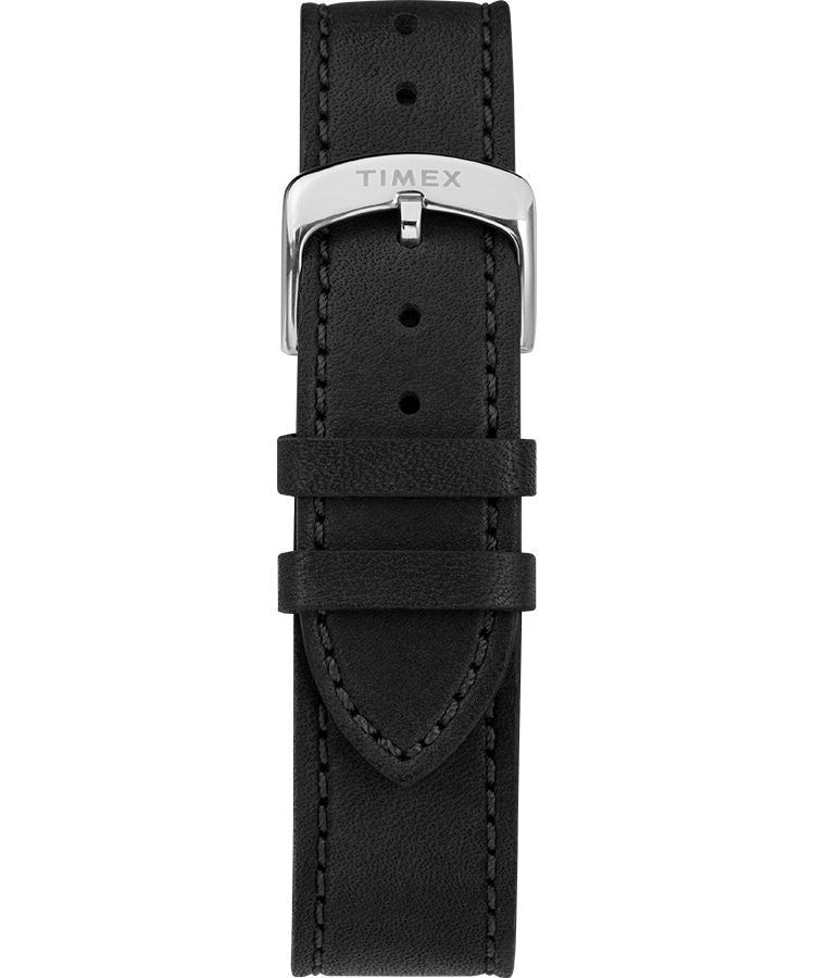 American Documents® 41mm Leather Strap Watch: Stainless-Steel/ Black/ White - Gear Supply Company