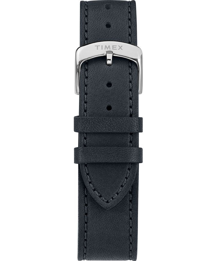 American Documents® 41mm Leather Strap Watch: Stainless Steel/ Blue/ Gray - Gear Supply Company
