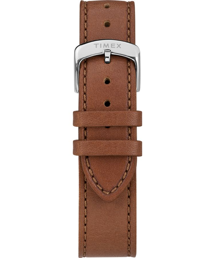 American Documents® 41mm Leather Strap Watch: Stainless-Steel/ Brown/ Blue - Gear Supply Company