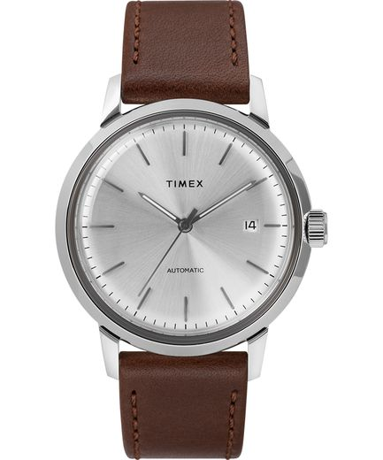 Marlin® Automatic 40mm Leather Strap Watch - Gear Supply Company