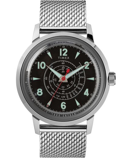 Timex x Todd Snyder Beekman 40mm Stainless Steel Mesh Band Watch - Gear Supply Company