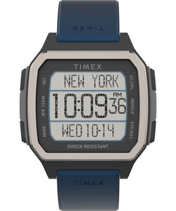 Command Urban™ 47mm Resin Strap Watch: Black and Blue - Gear Supply Company
