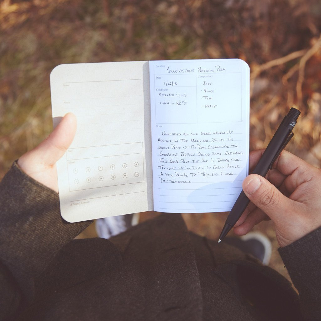 The Adventure Log - Yellow by WORD. NOTEBOOKS - Gear Supply Company
