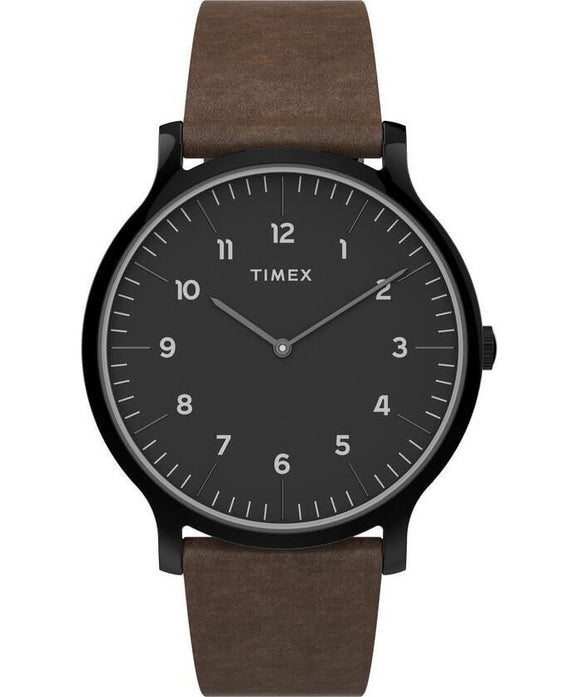 Norway 40mm Black Case Black Dial Brown Leather Strap TW2T66400VQ - Gear Supply Company