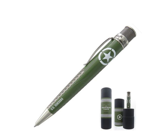 Retro51 Tornado Big Shot Rollerball Pen, Sherman Tank - Gear Supply Company