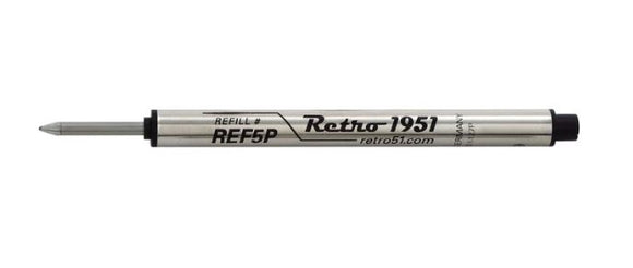 Retro51 Black Rollerball Pen Refills REF5P-B (3 Pack) - Gear Supply Company