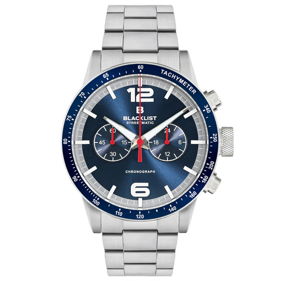 Blacklist Streetmatic Chronograph Blue Sunray - Steel - Gear Supply Company