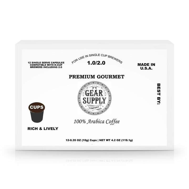 12 Pack Single Serve Coffee Capsules - Gear Supply Company