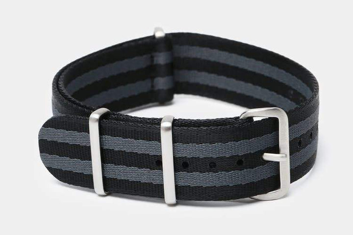 "22mm ""SB"" Black/Gray Bond Seat Belt Strap - Gear Supply Company"