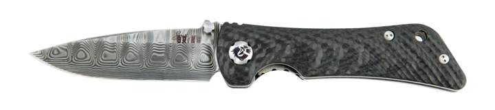 SPIDER MONKEY DROP POINT DAMASCUS CARBON FIBER HANDLE - Gear Supply Company