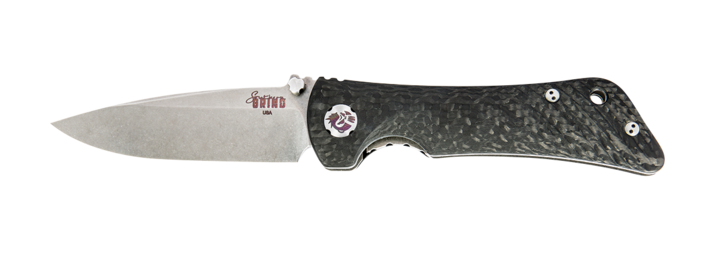 SPIDER MONKEY DROP POINT SATIN BLADE CARBON FIBER HANDLE - Gear Supply Company