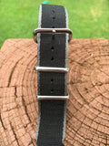"22mm ""SB"" Black/Gray edges Seat Belt Strap - Gear Supply Company"