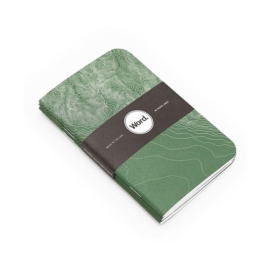 Green Terrain by WORD. NOTEBOOKS - Gear Supply Company