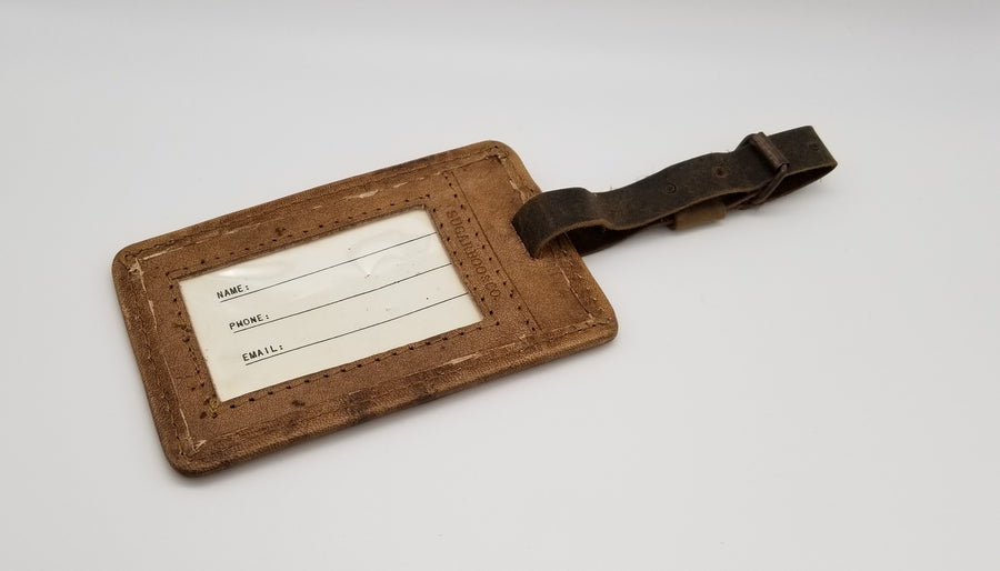 "Leather Luggage Tag - Mary Poppins 5"" x 3"" - Gear Supply Company"
