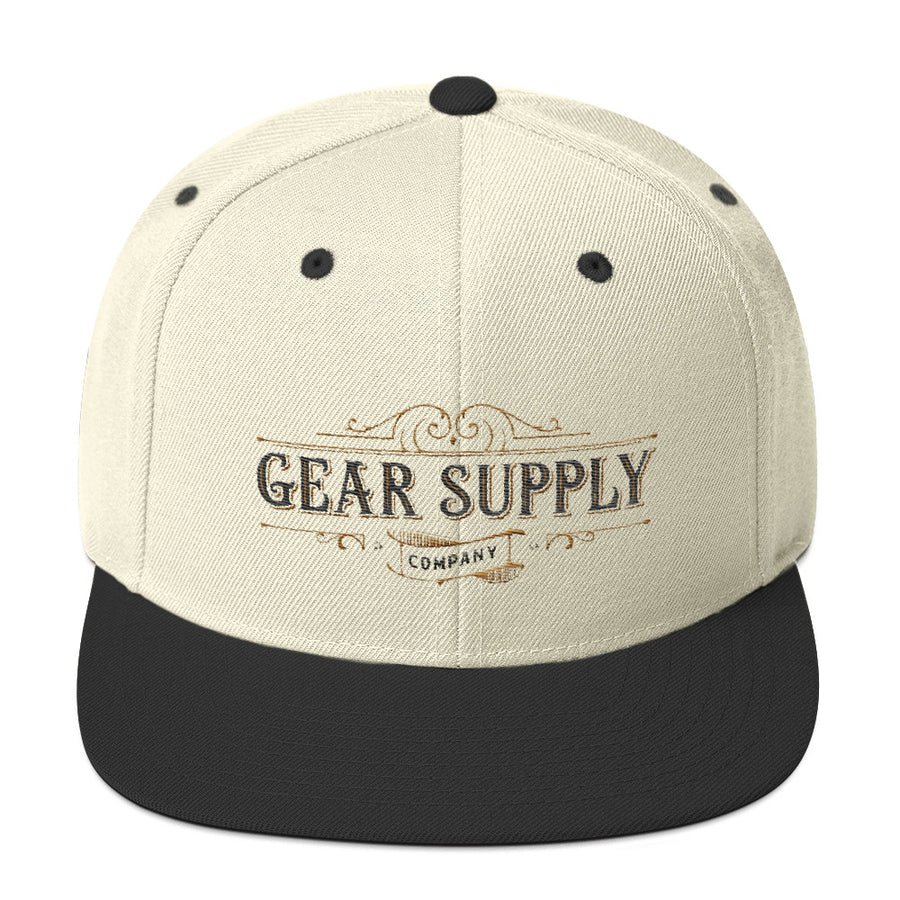 Gear Supply Company Snapback Hat: Natural / Black - Gear Supply Company