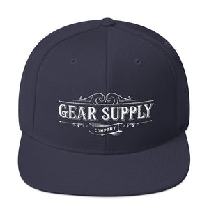 Gear Supply Company Snapback Hat: Navy - Gear Supply Company