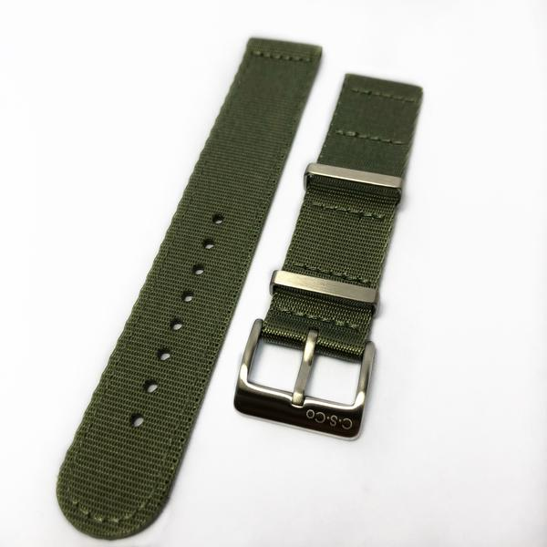 "20mm 2 Piece ""SB"" Green Seat Belt Strap - Gear Supply Company"