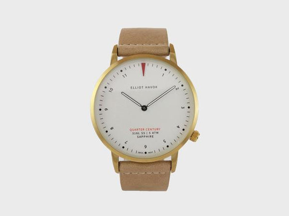Quarter Century Watch Gold - 41 mm: Natural - Gear Supply Company